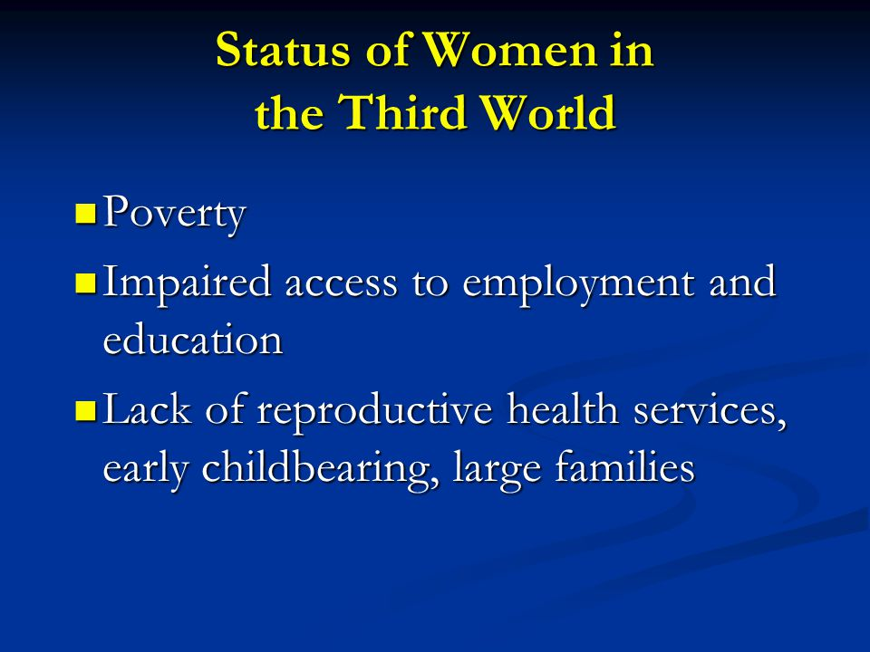 Status of Women in the Third World