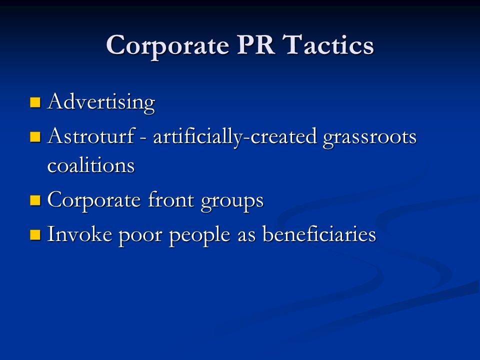 Corporate PR Tactics Advertising