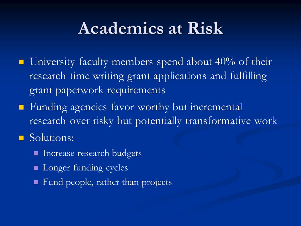 Academics at Risk