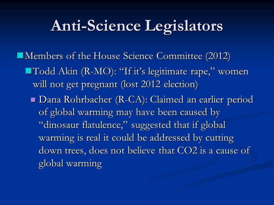 Anti-Science Legislators