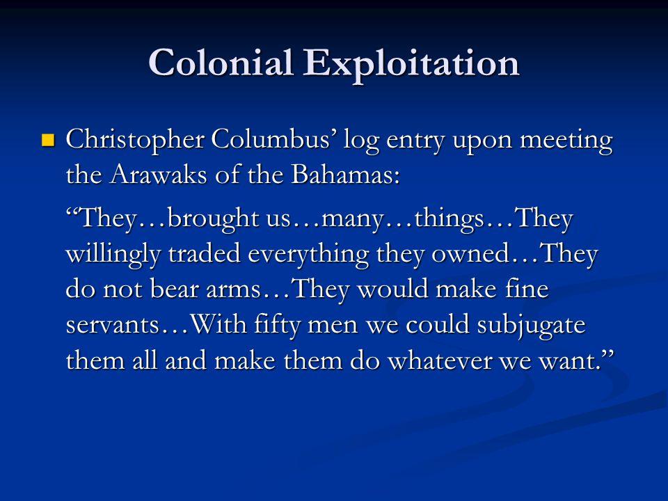 Colonial Exploitation
