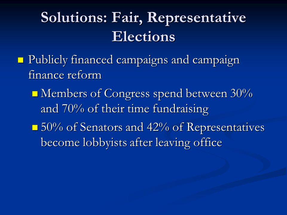 Solutions: Fair, Representative Elections