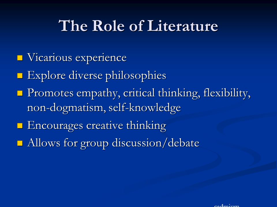 The Role of Literature Vicarious experience