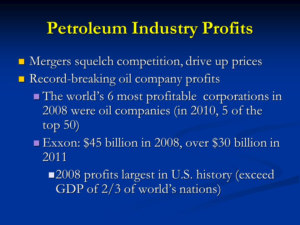 Petroleum Industry Profits