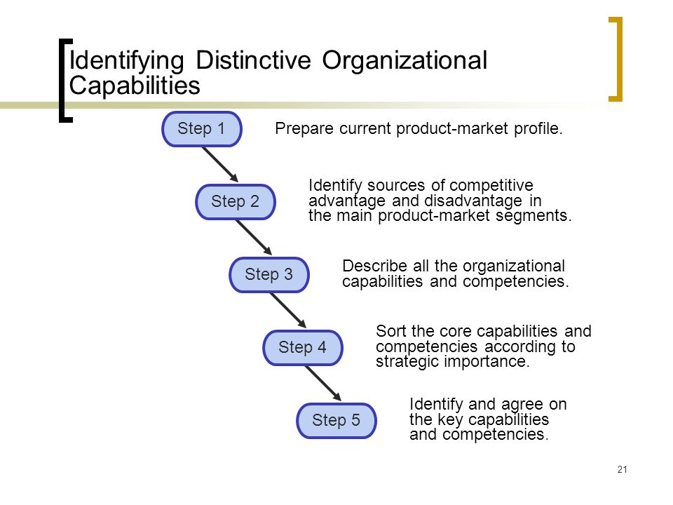 Identifying Distinctive Organizational Capabilities