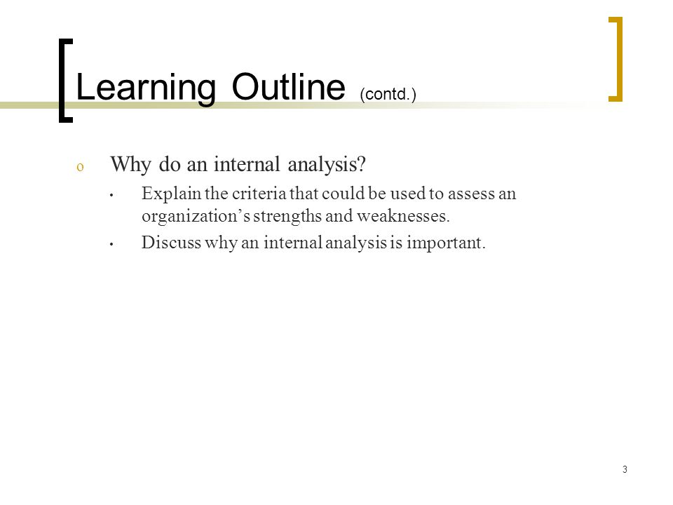 Learning Outline (contd.)