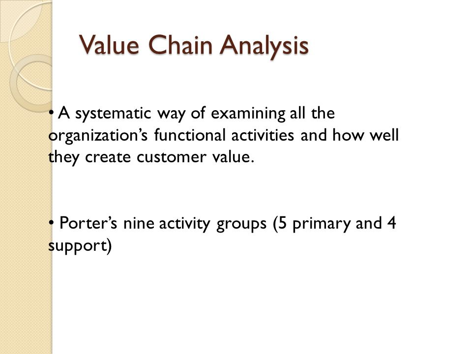 an analysis of the managing customer value The final step of customer value analysis is to _____ a) identify the major attributes and benefits that customers value b) assess the company's and competitors' performances on the different customer values against their rated importance.