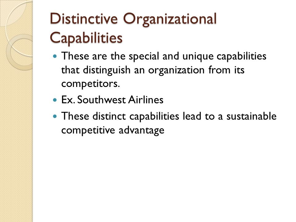 distinctive capabilities of southwest airlines Environmental analysis of southwest airlines add remove i need help with the following: and operating environments of southwest airlines in the next 10 years the main distinctive capabilities enjoyed by the southwest.