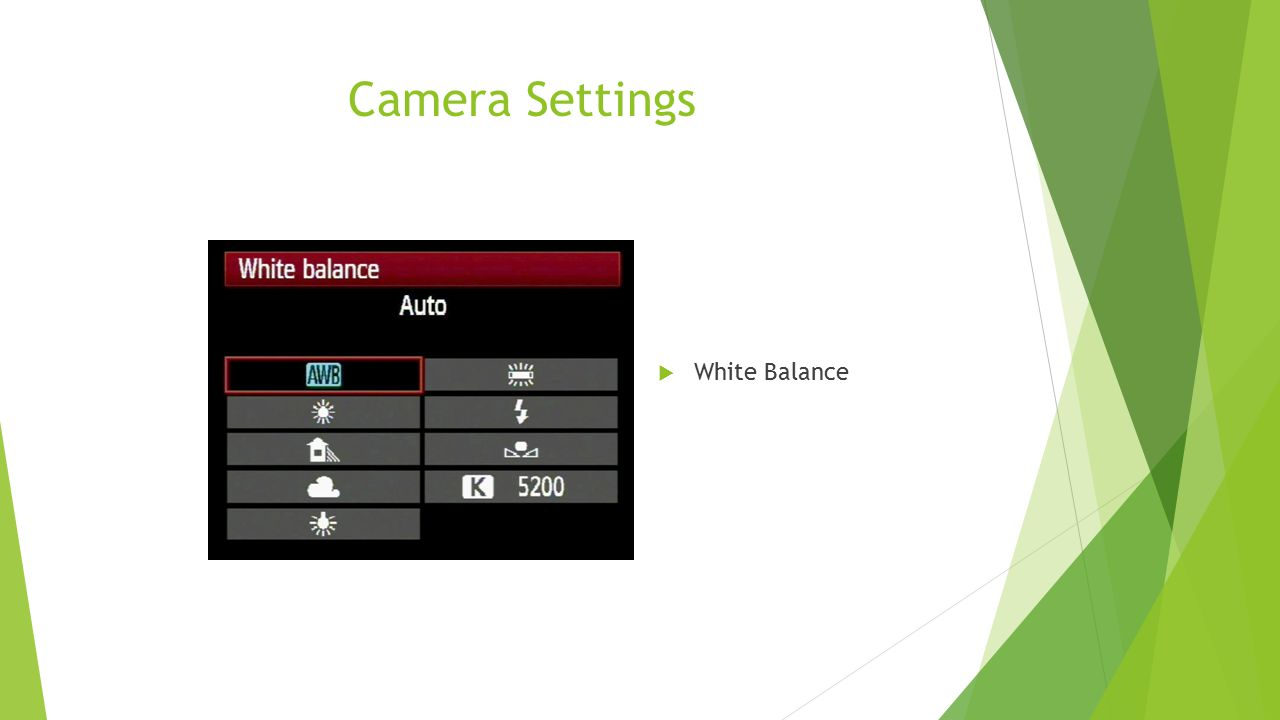Camera Settings White Balance