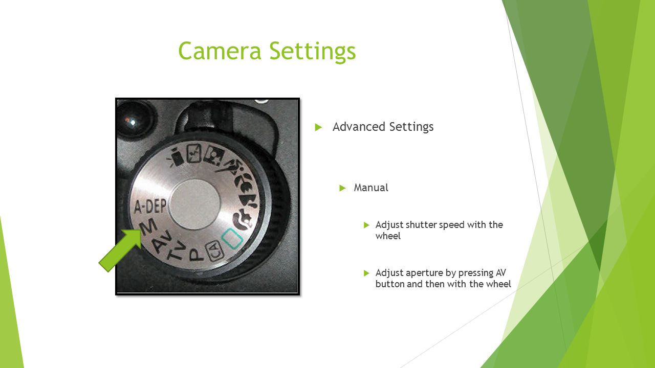 Camera Settings Advanced Settings Manual