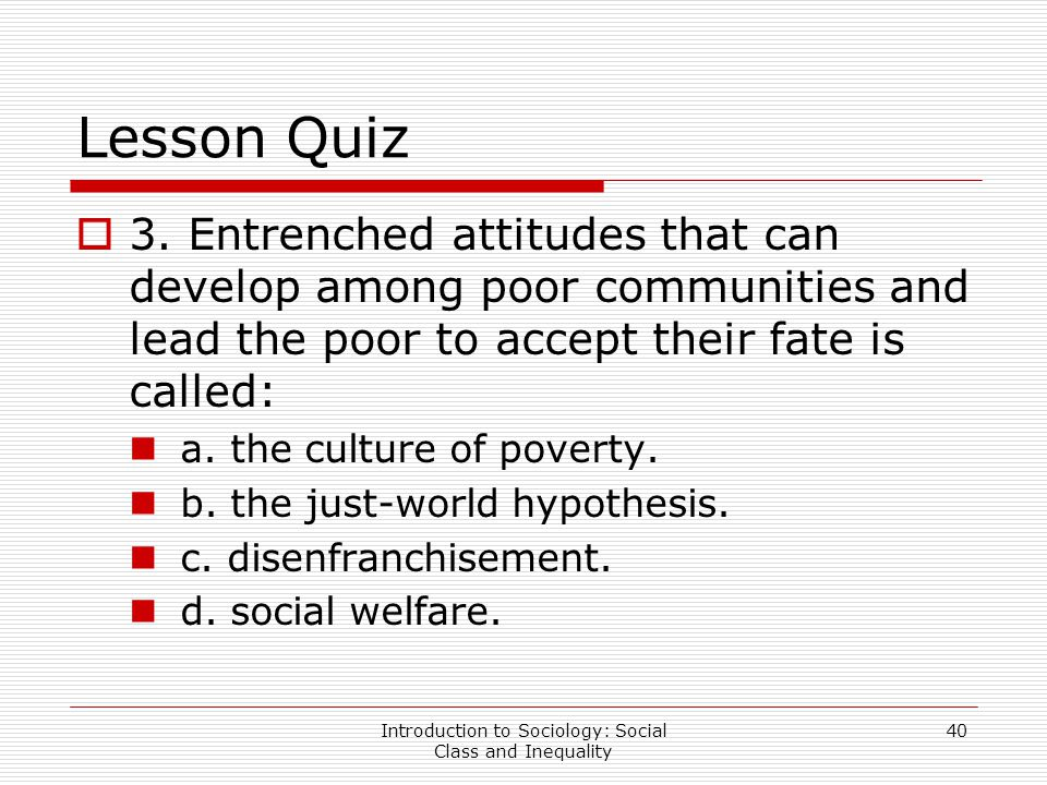 lesson social class and inequality ppt video online  introduction to sociology social class and inequality