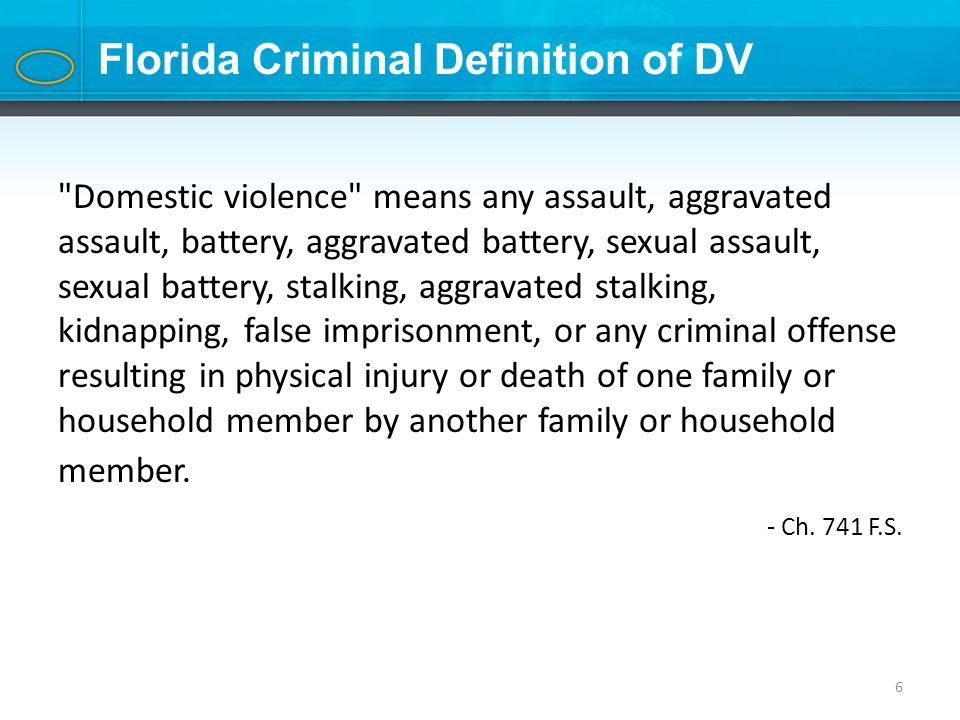 Sexual Battery Florida Definition