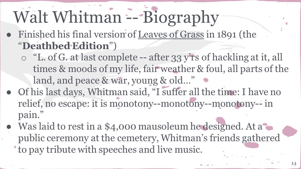 a biography of the life and times of marcus whitman Life and background walt whitman is both a major poet and an walt whitman biography the growth of science and technology in his time affected whitman.