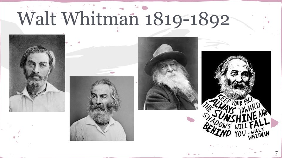a sense of reality and transcendentalism in the poetry of walt whitman Penny rimbaud: walt whitman at the age of 14  the full poem is called ' christ's reality asylum', but the crass track is  not in that sense.