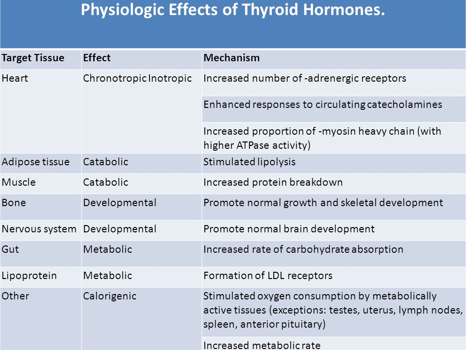 Discuss the effects of hormones