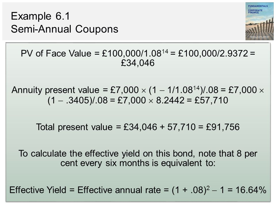 Coupons examples and calculation