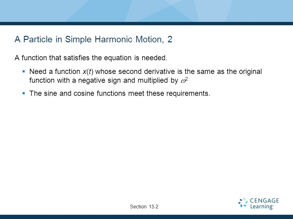 A Particle in Simple Harmonic Motion, 2