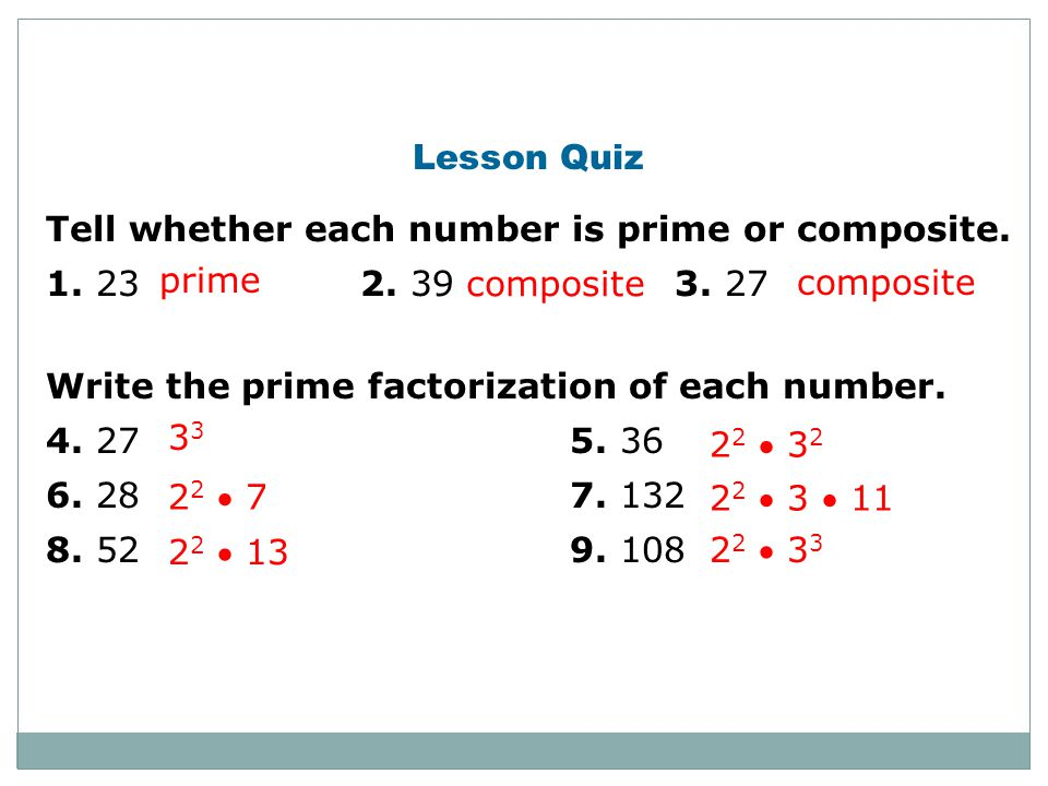 how to know if the number is a prime number