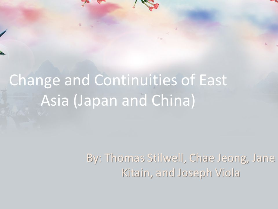 Change and continuity over time china 600 1450