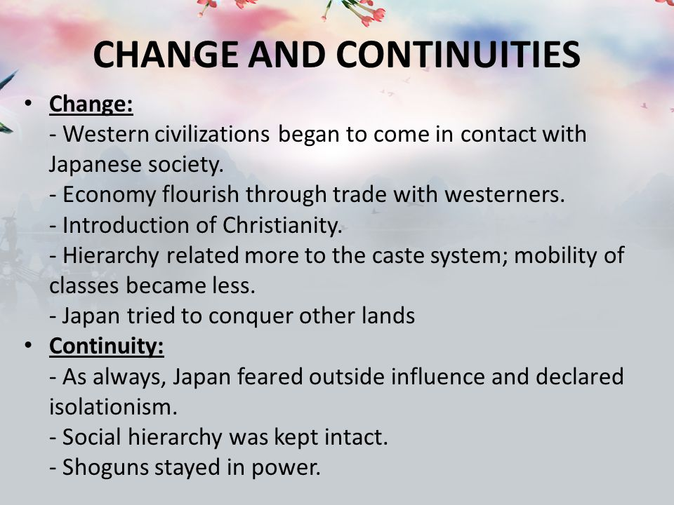 western europes changes and continuities 2013-2-5 the rise of europe: atlantic trade, institutional change,  the rise of western europe after 1500 is due largely to growth in  and helped merchants obtain changes.