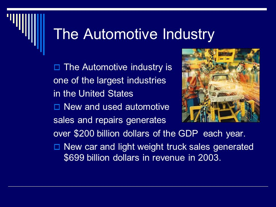 Automotive Industry In The United States: Billy Brown, Bridget Lawson, Dev Shah, Jason Smeak, And