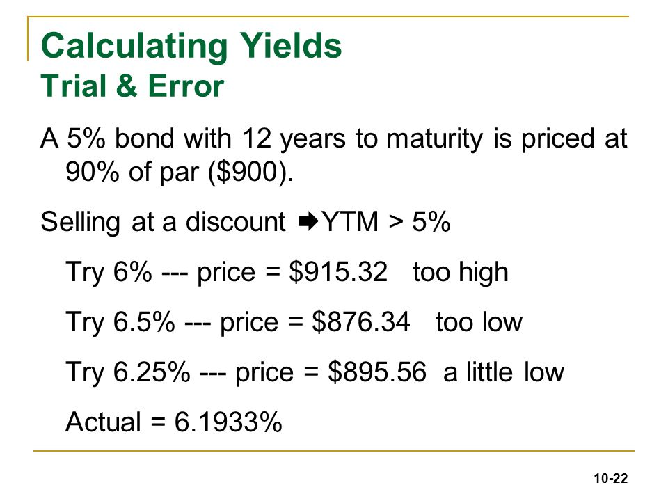 chapter 10 bond prices and yields 4  19   ppt download