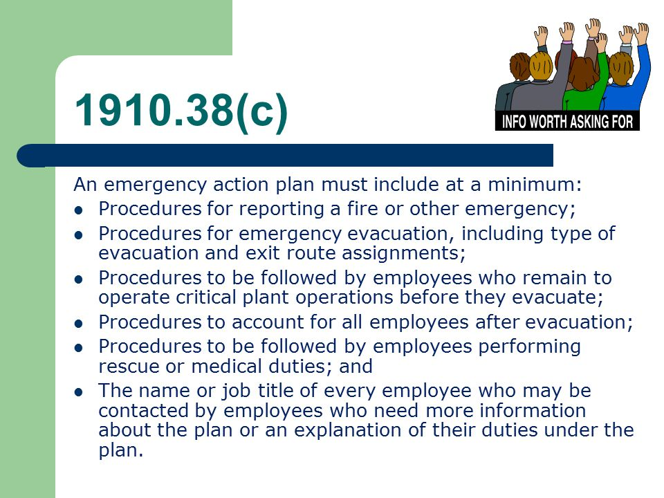 Emergency Action PlansFire Prevention Plans  Ppt Download