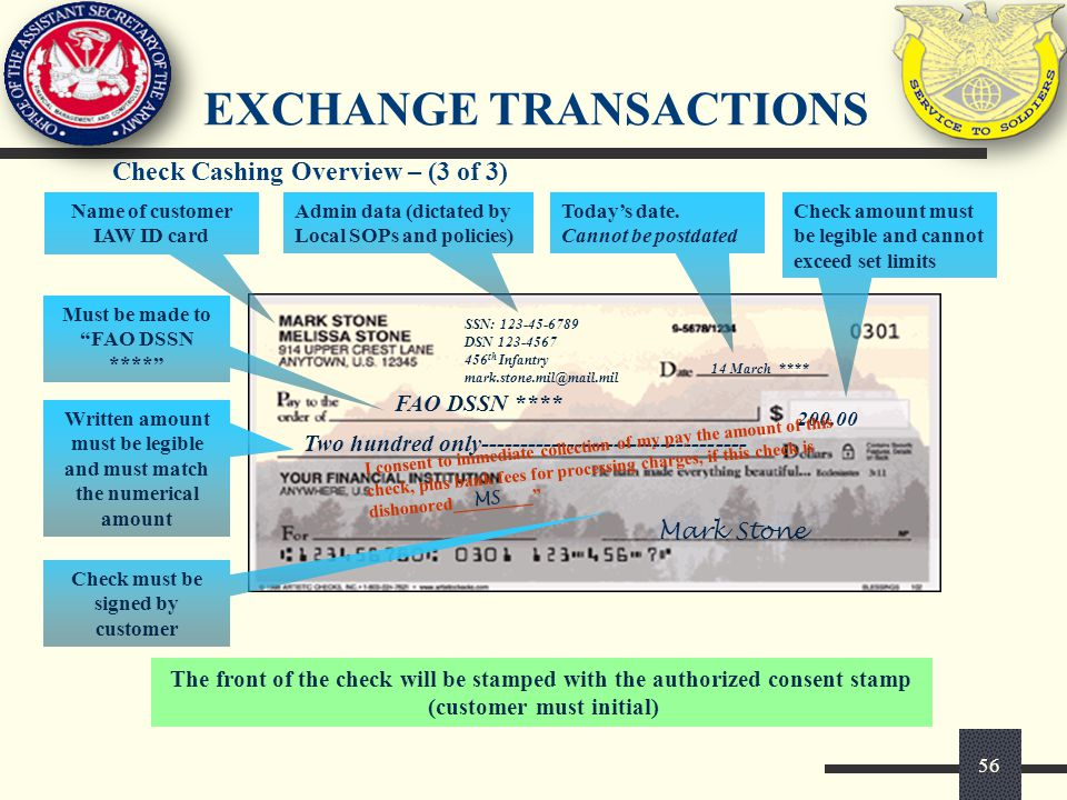 Exchange transactions