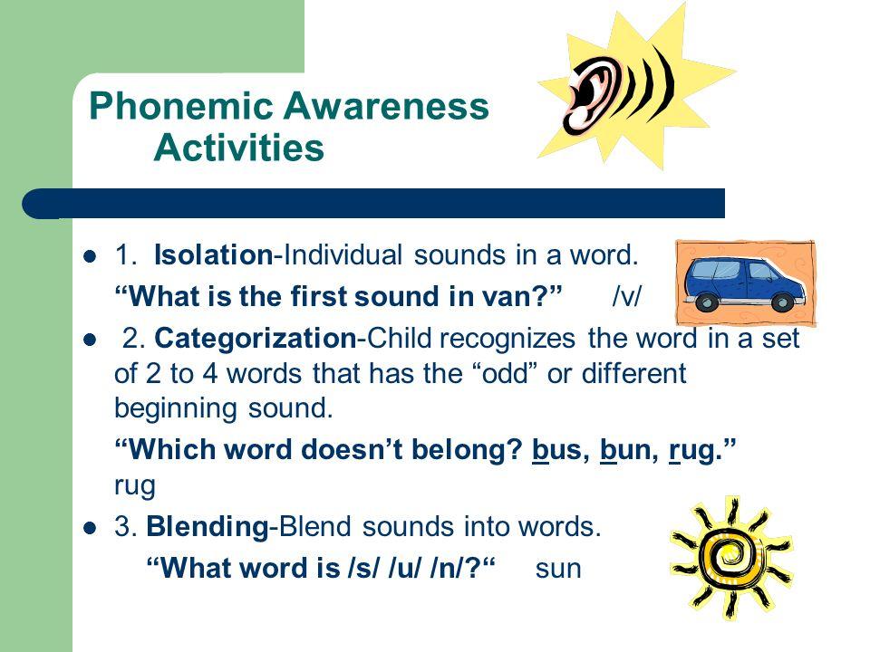 Phonemic Awareness Activities