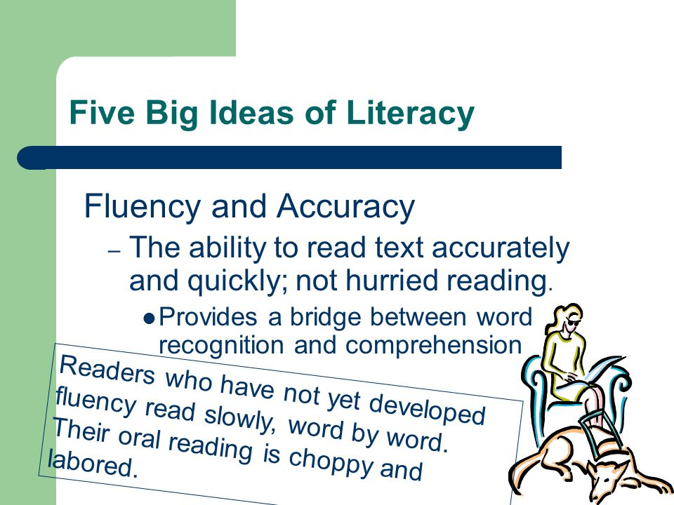 Five Big Ideas of Literacy