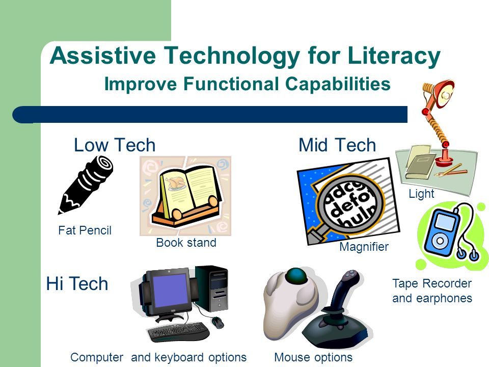 Assistive Technology for Literacy Improve Functional Capabilities