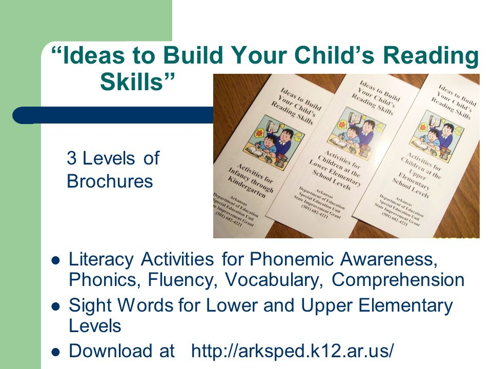 Ideas to Build Your Child's Reading Skills