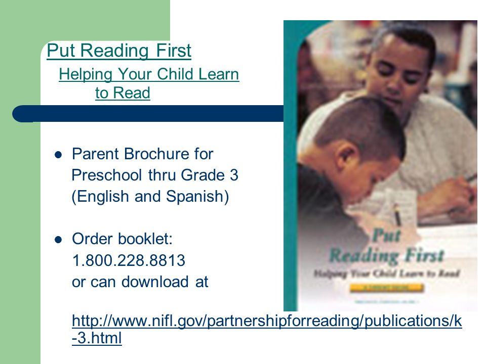 Put Reading First Helping Your Child Learn to Read