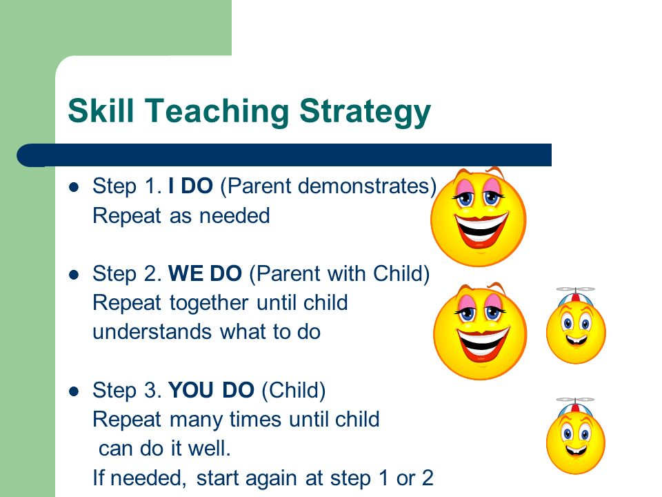 Skill Teaching Strategy
