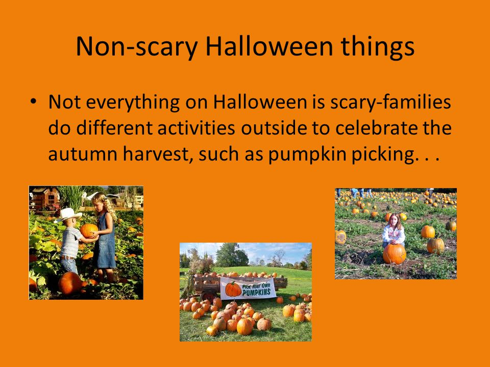 non scary halloween things - Halloween Is Scary