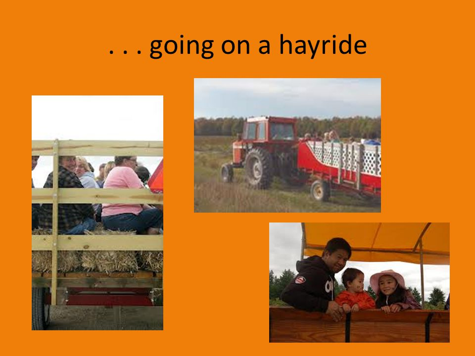 . . . going on a hayride