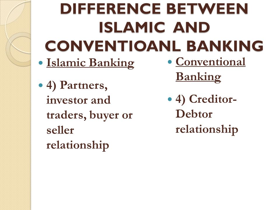 difference between islamic banking and Key words: microfinance institutions, islamic finance, mena region, poverty,   comparison between conventional and islamic microfinance institutions items.