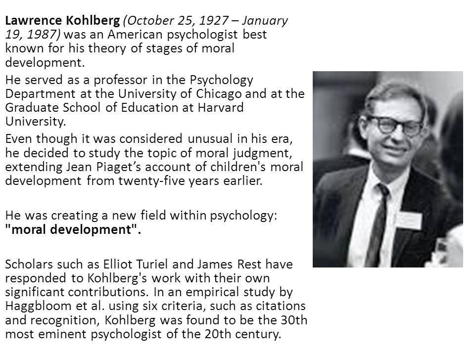 kohlberg fowler and piaget spiritual development across the lifespan Fowler developed his theory from the work of jean piaget and lawrence kohlberg  f, human development across the lifespan 2018 robert k atkin.