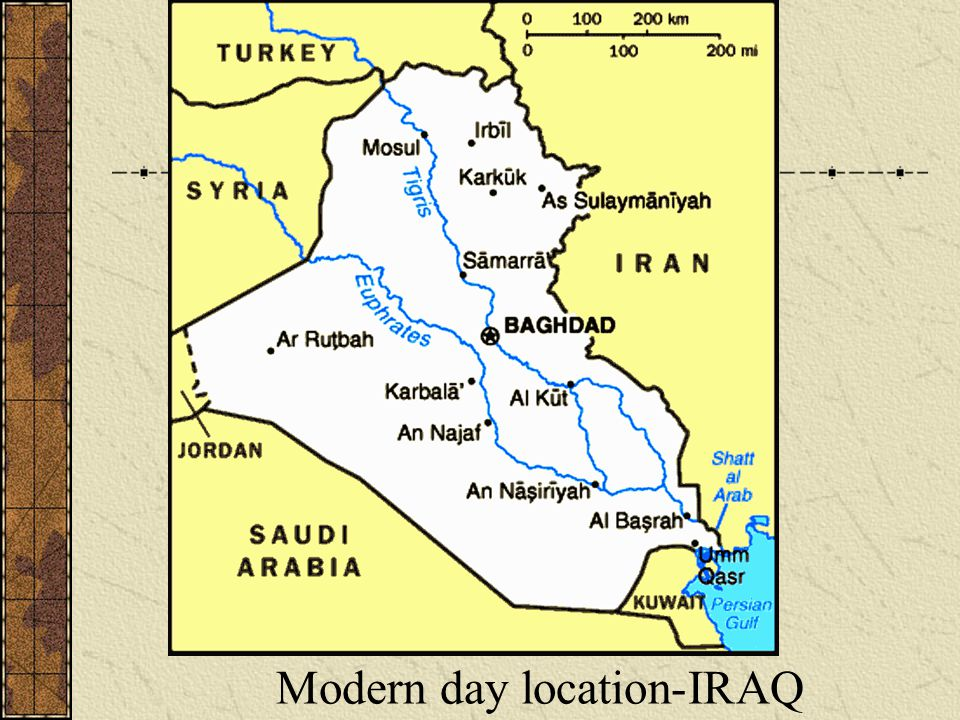 Modern day location-IRAQ