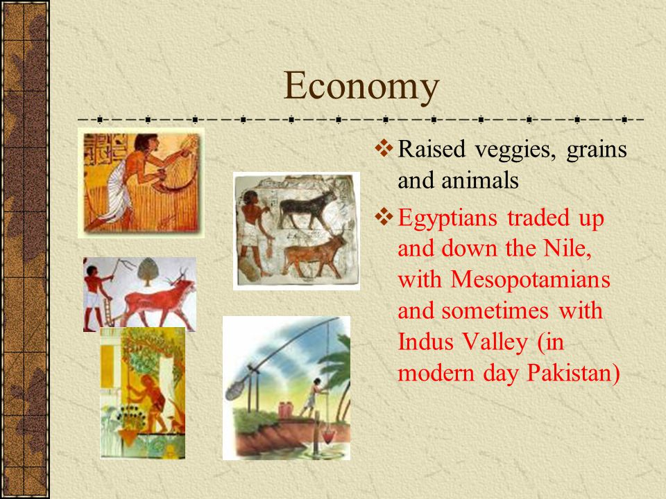 Economy Raised veggies, grains and animals