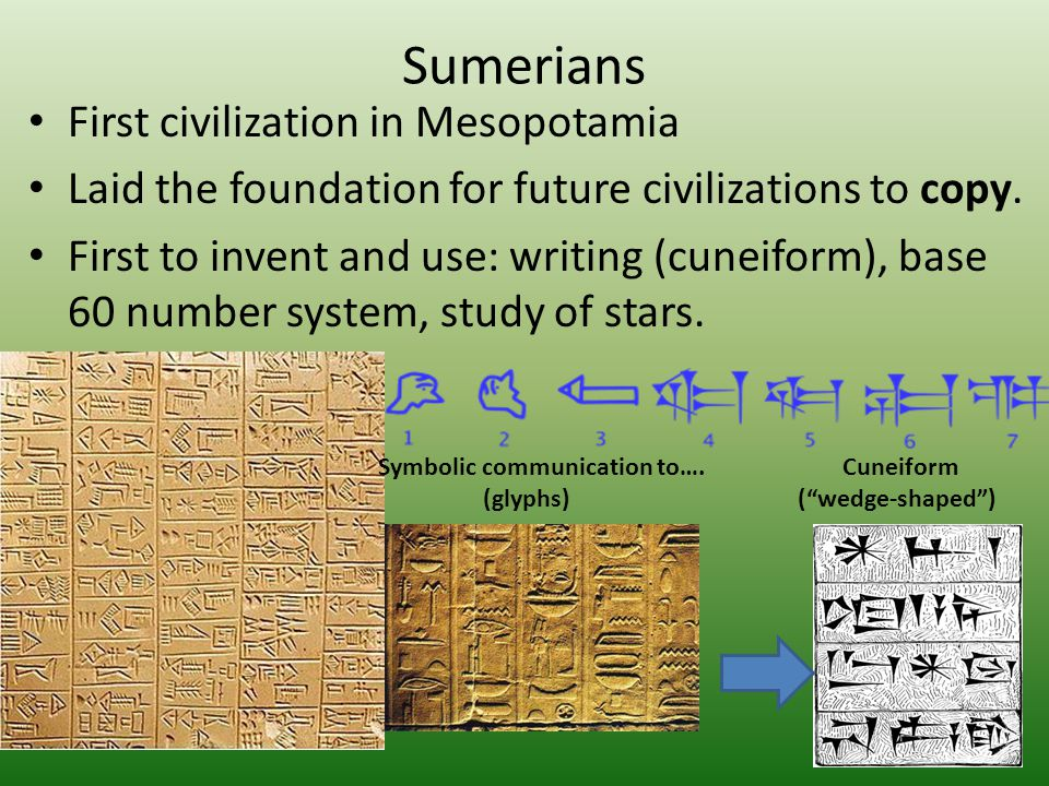 Sumerians First civilization in Mesopotamia