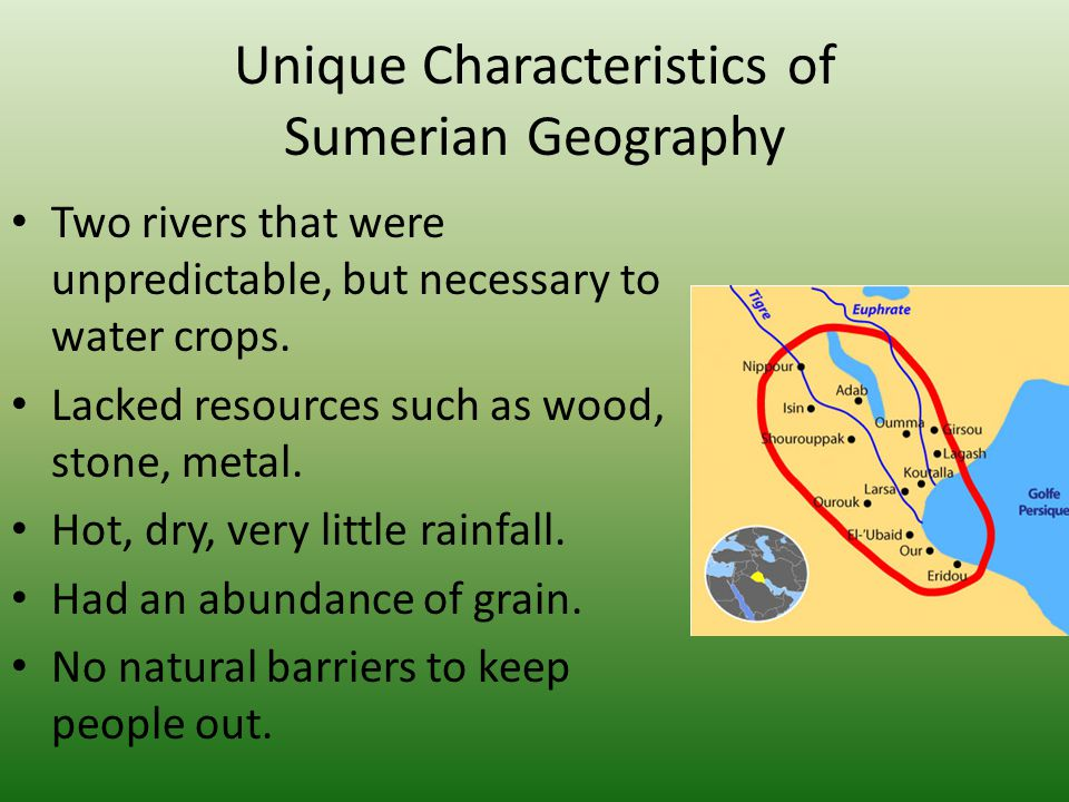 Unique Characteristics of Sumerian Geography