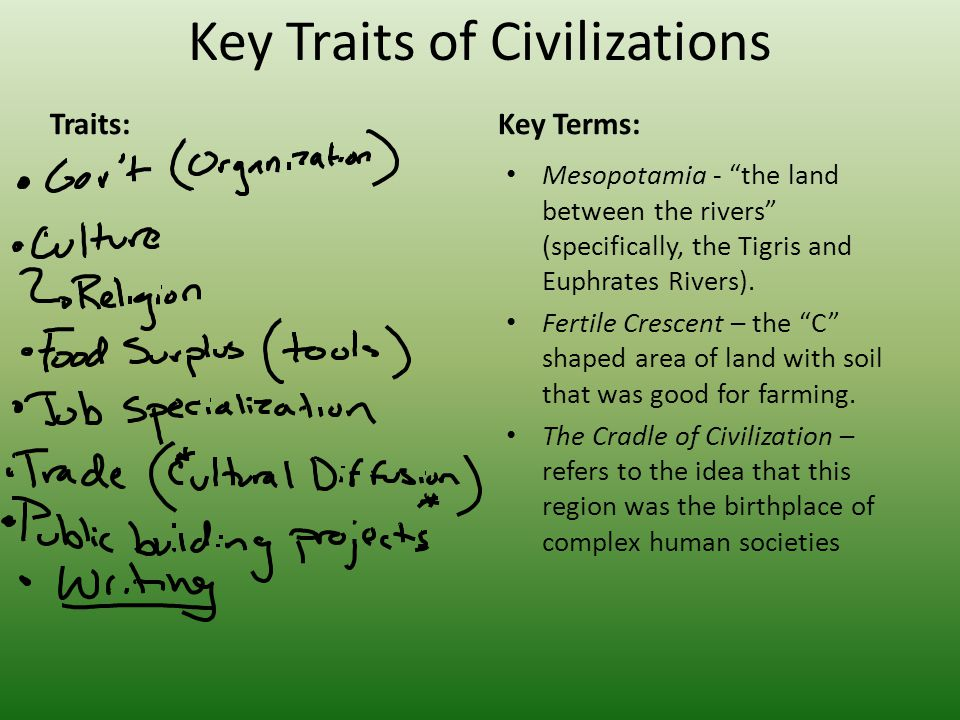 Key Traits of Civilizations