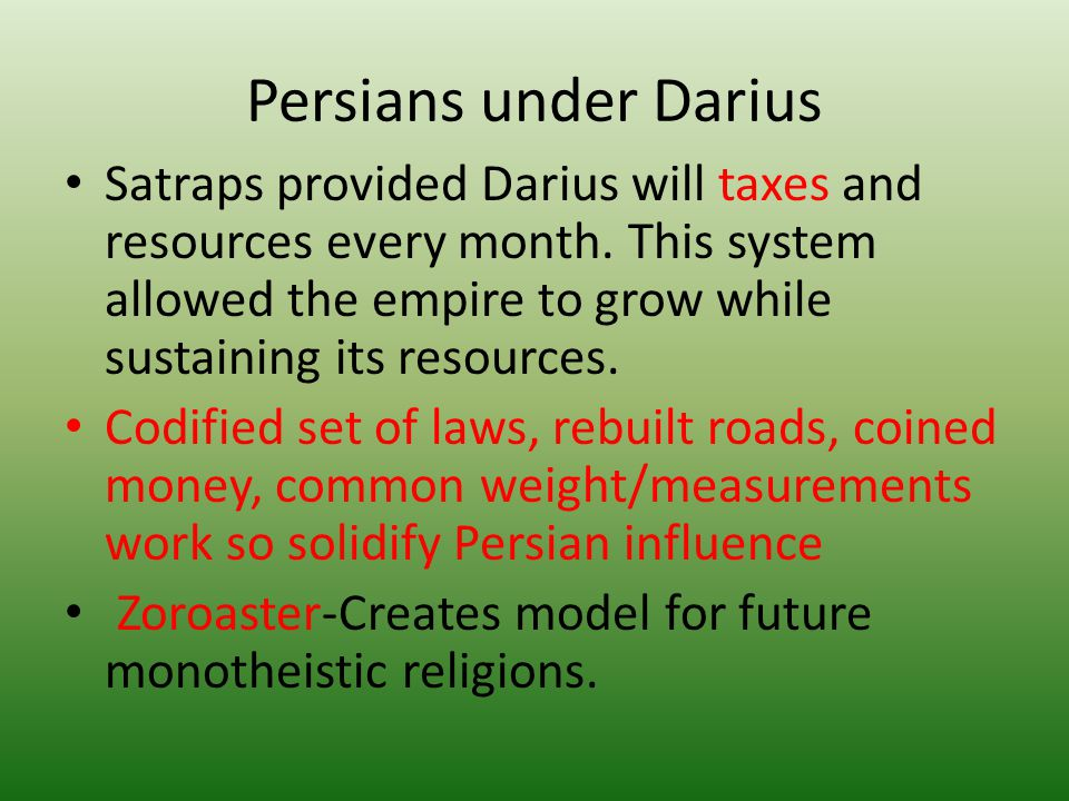 Persians under Darius