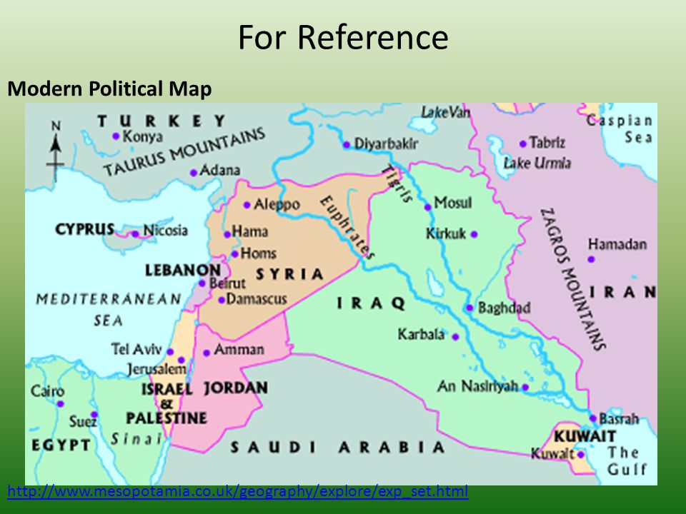 For Reference Modern Political Map