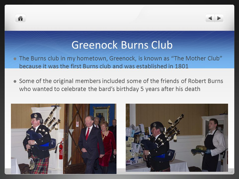 Greenock Burns Club