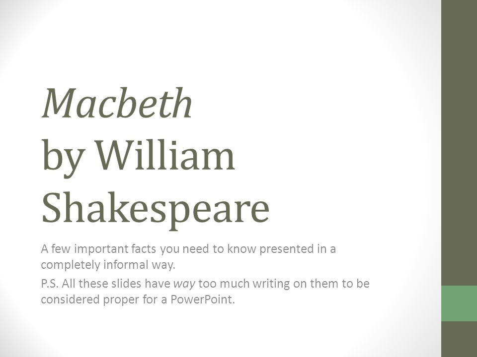 an analysis of the supernatural forces in macbeth by william shakespeare