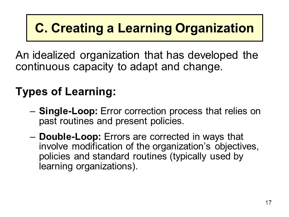 ways of creating a learning organization Technology has changed the way corporate learning and leadership development happens across the globe organizations increasingly rely on digital learning for a portion of their leadership development and training needs whether the delivery method is a massive open online course, a small private .