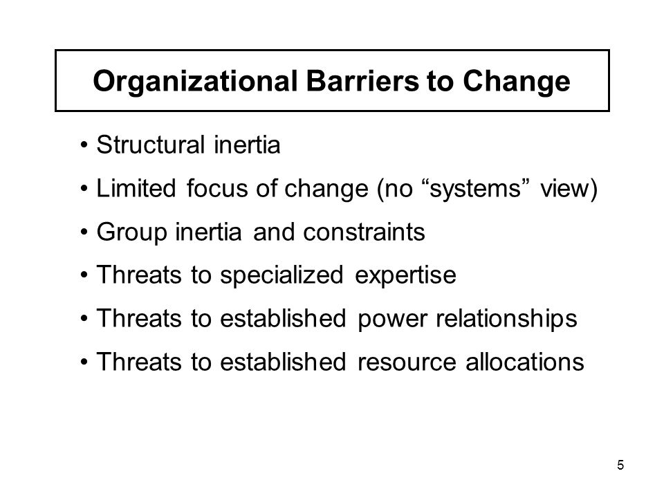 Chapter organizational change ppt download