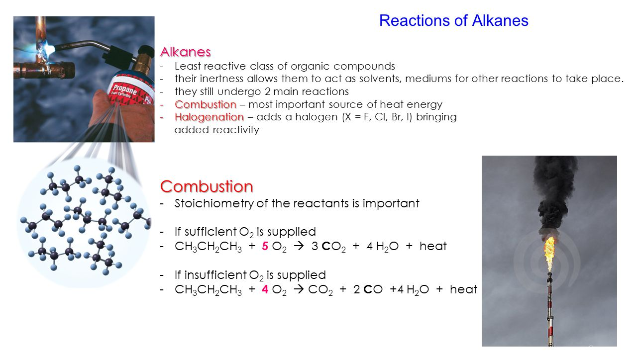 comparing the reactivity of alkanes and The homologous series of alkanes is the simplest and probably most often cited example but there (eg as reactivity and rates of reaction vary with.